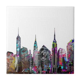 New York City graffiti Small Square Tile