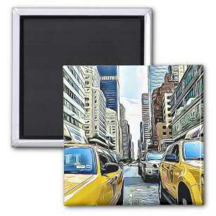 Taxi Refrigerator Magnets | Zazzle co nz