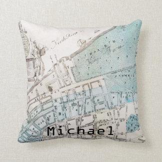 New York City Map, 1728 Cushion