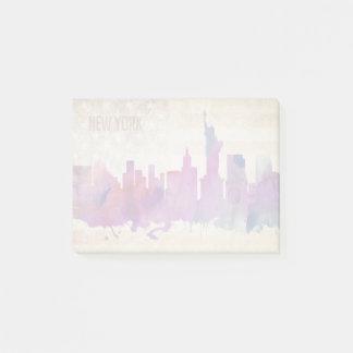 New York City, NY | Watercolor City Skyline Post-it Notes
