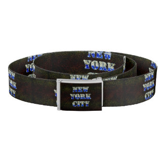 New York City Silver Blue Glitters Belt