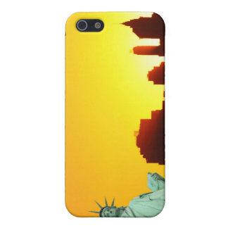 New York City Skyline and The Statue of Liberty Cover For iPhone 5/5S