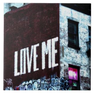New York City Street Graffiti Photo Large Square Tile