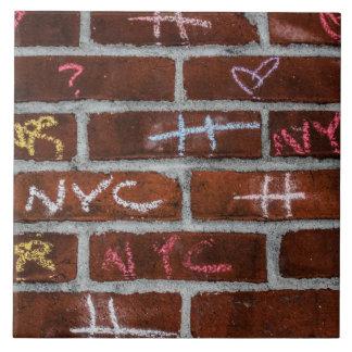 New York City Street Graffiti Photo Ceramic Tile