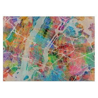 New York City Street Map Cutting Board