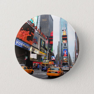 New York City Times Square 6 Cm Round Badge