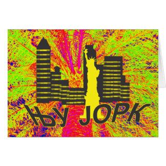New York cyrillic Card
