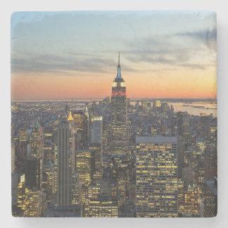 New York dawn skyline Stone Coaster
