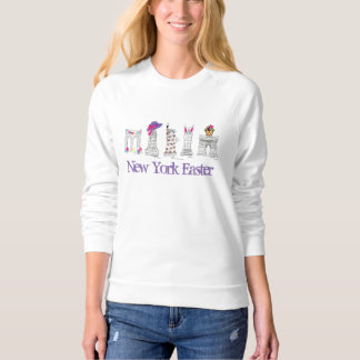 New York Easter Eggs Bunny Basket NYC Sweatshirt