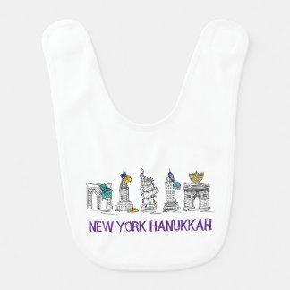 New York Hanukkah Chanukah NYC Happy Holidays Bib