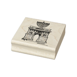 New York Hanukkah NYC Washington Square Menorah Rubber Stamp