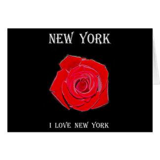 New York I Love New York (Rose) Card