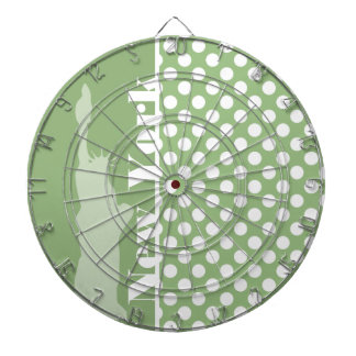 New York; Laurel Green Polka Dots Dartboard
