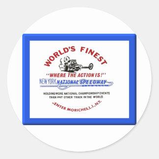 New York National Speedway Classic Round Sticker
