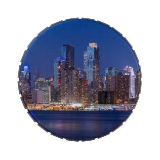 New York night skyline Jelly Belly Candy Tins