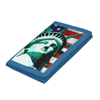 New York (NY) USA - The Statue of Liberty Trifold Wallet