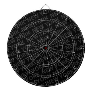 New York Pattern Dark Gray Dartboard