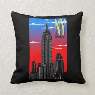 "New York Polyester Throw Pillow 16"" x 16"""