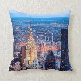New York Skyline At Night Cushion