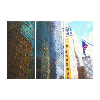 NEW YORK SKYSCRAPERS ART CANVAS PANELS GALLERY WRAPPED CANVAS