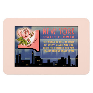 New York state flower vintage greetings from Magnet