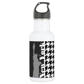 New York, Statue of Libety Houndstooth 532 Ml Water Bottle