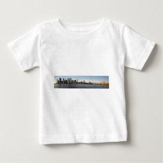 New York Sykline with Brooklyn Bridge Baby T-Shirt