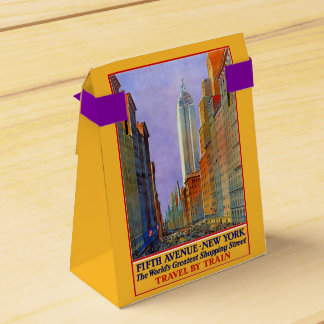 New York USA Vintage Travel favor box Favour Boxes