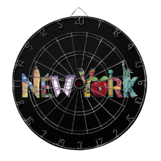 New York wall clock Dartboard