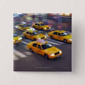 New York Yellow Taxi's 15 Cm Square Badge