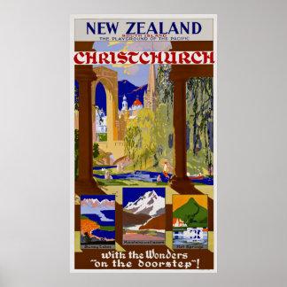 New Zealand ~ Christchurch Poster