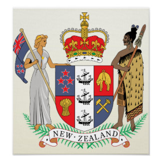 New Zealand Coat of Arms detail Poster