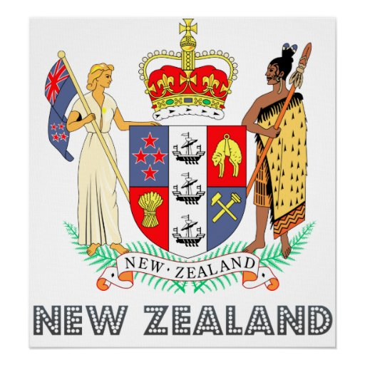 New Zealand Coat of Arms Print