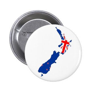new zealand country flag map shape symbol 6 cm round badge