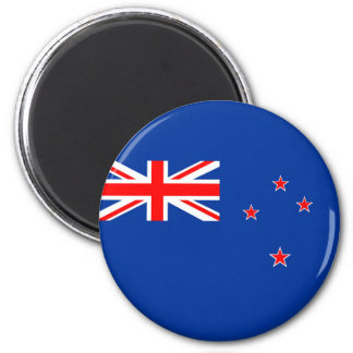 new zealand country flag nation symbol 6 cm round magnet
