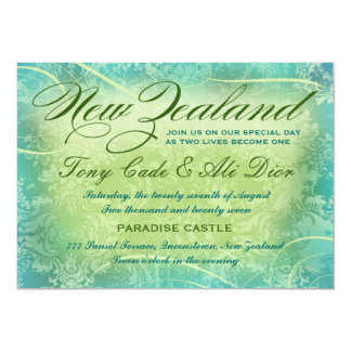 NEW ZEALAND Destination Invitation Blue Green
