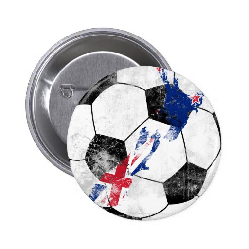 New Zealand Distressed Soccer Buttons