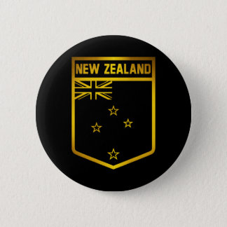 New Zealand Emblem 6 Cm Round Badge