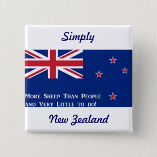New Zealand Flag 15 Cm Square Badge