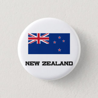 New Zealand Flag 3 Cm Round Badge