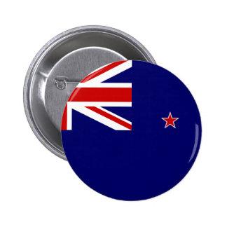 New Zealand Flag 6 Cm Round Badge