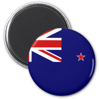 New Zealand Flag 6 Cm Round Magnet