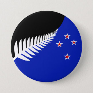 New Zealand flag 7.5 Cm Round Badge