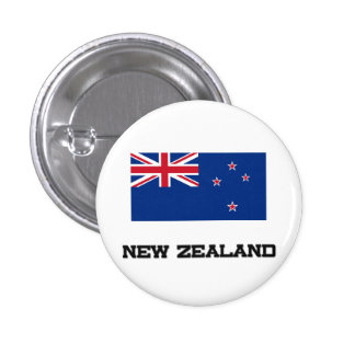 New Zealand Flag 3 Cm Round Badge