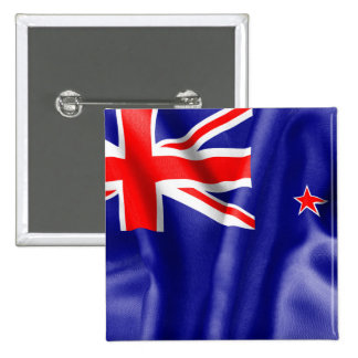 New Zealand Flag 2 Inch Square Button
