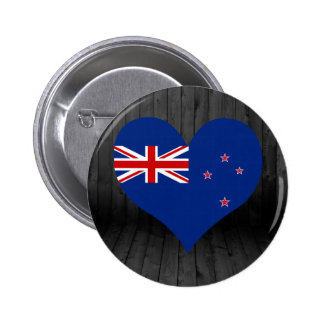 New+Zealand flag colored 6 Cm Round Badge