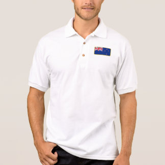 New Zealand flag golf polo