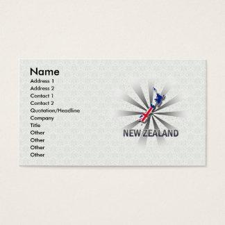 New Zealand Flag Map 2.0 Business Card