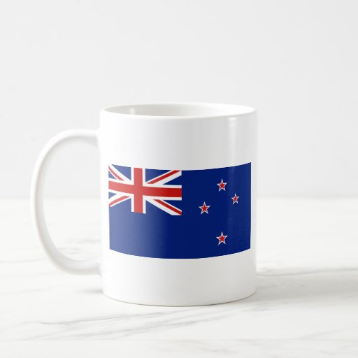 New Zealand Flag ~ Map Mug