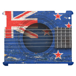 New Zealand Flag on Old Acoustic Guitar Case For The iPad 2 3 4